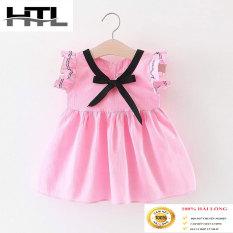 (Sale lỗ )váy hè HTL cho bé gái hot hit mẫu nơ trơn