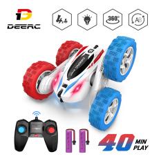 Xe đua đồ chơi trẻ em DEERC DE38 siêu tốc độ, điều khiển từ xa 2.4G xoay và nhào lộn 360°, có kèm pin dự phòng – INTL