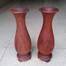 bình lọ gỗ cẩm nguyên khối cao 24cmx9cmx9cm