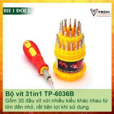 Bộ tua vít đa năng 30 đầu TP-6036 chuyên dụng.