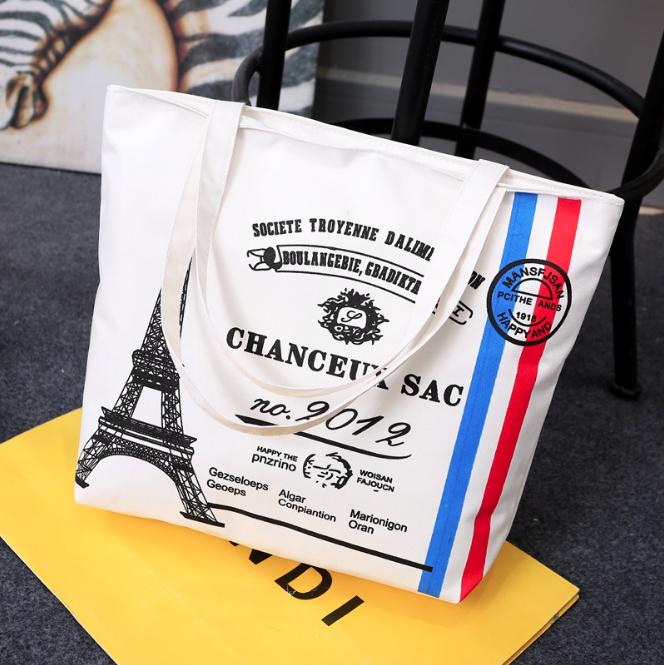 Túi Vải Hàn Quốc Chất liệu Vải Canvas Thiết Kế Thời Trang Đẹp Mắt Dễ phối với các loại trang phục phụ kiện