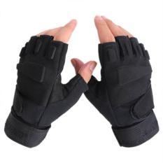 Găng tay Blackhawk cụt ngón màu đen đi xe máy cho phượt thủ