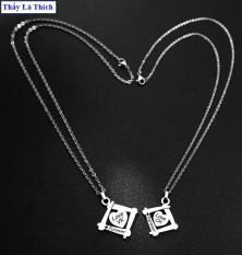 Dây chuyền cặp đôi inox thấy là thích hình trái tim khắc chữ Love CK / Love Vk ( 2 dây + mặt như hình ) – Giá bán như trên là 1 cặp như hình