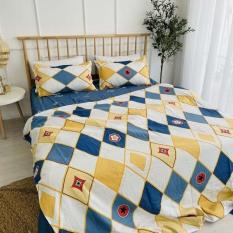 Bộ chăn ga gối Cotton Poly LIDACO 4 món miễn phí may chun ga giường đủ mọi kích cỡ