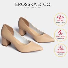 Giày cao gót Erosska mũi nhọn kiểu dáng cơ bản cao 5cm EP011 (NU)