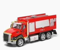 Đồ Chơi Ô Tô Xe Cứu Hỏa ( Fire-Truck) Có Đèn, Nhạc, Chạy Bằng Cót Cho Bé