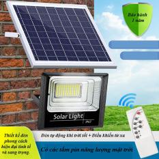 Đèn Pha Led Năng Lượng Mặt Trời 60W BABA -bachhoaxanh888- Đèn Năng Lượng Mặt Trời, Kèm Tấm Pin, Có Remote Có Cảm Biến Tự Động