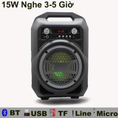 Loa Hát karaoke gia đình Bluetooth di động loa có jack cắm Micro thẻ nhớ USB loa Bluetooth mini cho điện Thoại máy tính laptop PF95
