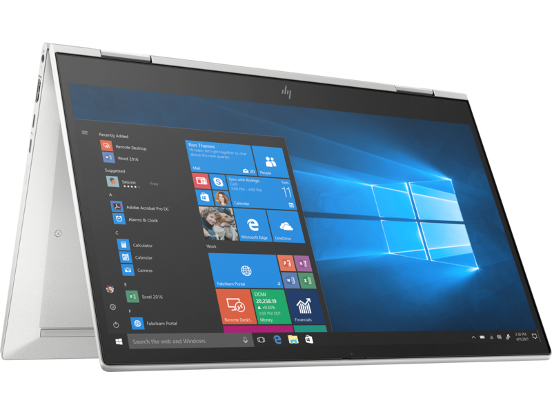 [Trả góp 0%] Máy tính xách tay HP EliteBook x360 830 G7, Core i5-10210U,8GB RAM,512GB SSD+SSD 32GB,Intel Graphics,13.3″FHD Touch,Pen,Wlan ax+BT,Fingerprint,3cell,NFC,Win 10 Pro 64, Silver,3Y WTY/230L4PA