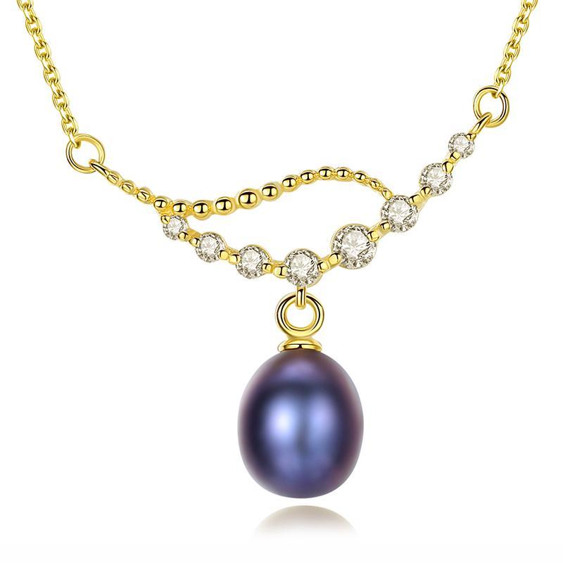 Dây Chuyền Ngọc Trai Cao Cấp DB2339 Cỡ Hạt 7×8 Bảo Ngọc Jewelry