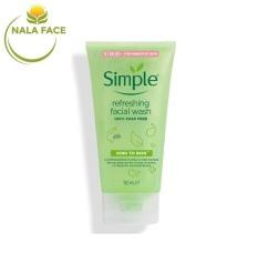 [MẪU MỚI] Sữa Rửa Mặt Dạng Gel Simple Refreshing (150ml)