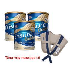 Bộ 3 lon Ensure 850g tặng máy massage cổ