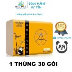 (1 THÙNG) 30 gói khăn giấy ăn GẤU TRÚC SIPIAO 300 tờ SP 6021