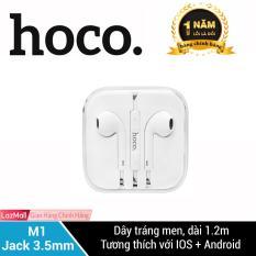 Tai nghe nhét tai HOCO M1 cho iPhone/iPad đàm thoại, super bass, Jack 3.5 cho các dòng điện thoại