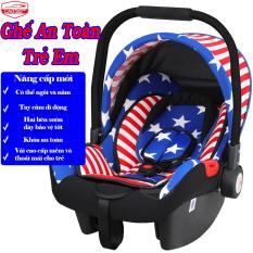 Ghế ngồi an toàn trên ô tô cho bé sơ sinh CAR365, tay cầm đa năng 3 chế độ chuyển đổi tiện lợi, có rèm che nắng, chất liệu siêu mềm mại và thoáng khí, khung thép siêu bền, đai an toàn cực chắc chắn, BẢO HÀNH 12 THÁNG – CAR47