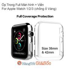 Ốp Trong suốt PC Full Màn hình & Viền Apple Watch 1/2/3 (vỏ iwatch, hangtotgiasoc)