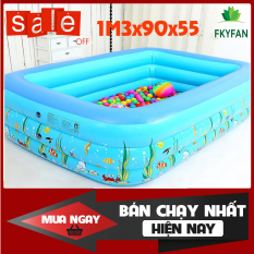 [ 130cmX90cmX55cm] Bể Bơi Phao 1M3 – BỂ BƠI PHAO 3 TẦNG cho bé trong nhà cho bé cao cấp hình chữ nhật, HỒ BƠI TRẺ EM, Bồn tắm trẻ em bơm hơi BEBOIM3