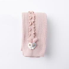 Quần tất, legging len dày REN SỌC DỌC cao cấp phong cách Hàn QUốc cho bé gái QLTE04