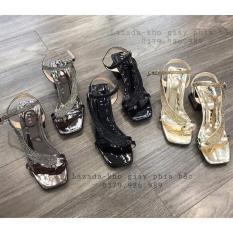 Giày sandal cao gót quai gắn đá đẹp -mã 392