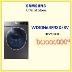[Free công lắp đặt] Máy giặt sấy inverter add wash Samsung Addwash 10.5kg (WD10N64FR2X/SV) – Hàng chính hãng