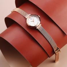 Đồng hồ nữ Julius Hàn Quốc JA-829C dây thép (Đồng)