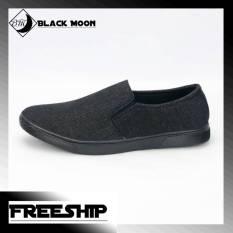 Giày lười công sở nam BM212 shop BlackMoon chuyên giày mọi, giày vải
