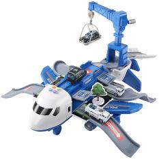 Máy bay đồ chơi, đa dạng chi tiết sắc sảo bao gồm 4 xe cảnh sát bằng kim loại, có giàn cẩu, thang trượt, biển báo đa chức năng chạy pin, chất liệu nhựa, an toàn cho bé, tăng tư duy, giúp phát triển trí não của bé.