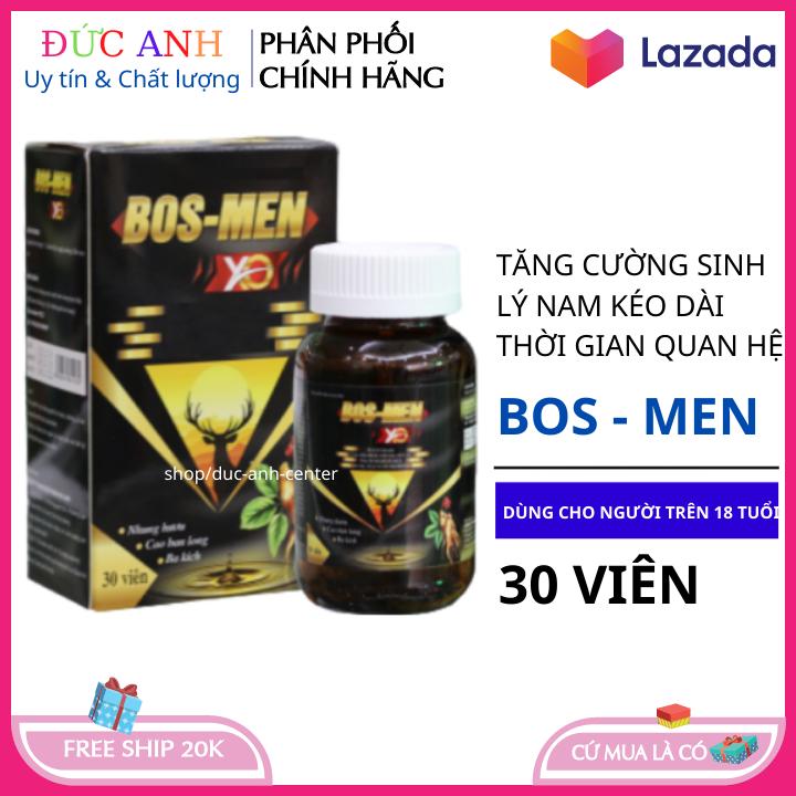 BOS MEN tăng cường sinh lý cho cả nam và nữ hộp 30 viên hsd 2023