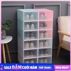 Combo 6 hộp đựng giày nắp nhựa (Loại 1), Tu Giay Dep – Hộp Giày Nhựa Cứng Trong Suốt, Hộp Đựng Giày – Hộp Giày Nhựa