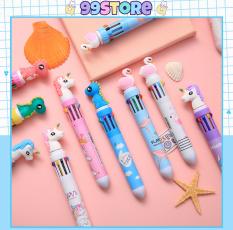 Bút Bi Bấm Nhiều Màu ( 10 Màu Khác Nhau )