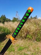 [New] Đạo cụ hóa trang gỗ Muichirou Hà trụ – tặng đế kiếm – Kimetsu No Yaiba – Baystore