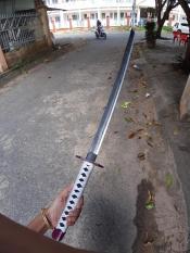 Đạo cụ hóa trang gỗ Giyuu Thủy Trụ – tặng đế kiếm – Kimetsu No Yaiba – Baystore