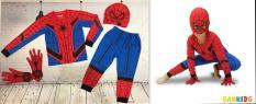 { TẶNG MŨ TRÙM- GĂNG TAY} ĐỒ BỘ BÉ TRAI TAY DÀI HÌNH SIÊU NHÂN NHỆN SPIDERMAN TỪ 12-42KG- Bộ đồ siêu nhân – Thun cotton 4 chiều thấm hút mồ hôi -Red Ant kids
