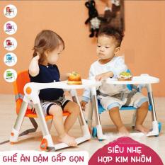 Ghế ngồi tập ăn cho bé gấp gọn siêu nhẹ Apramo Flippa Dining Booster cho bé từ 6 tháng đến 3 tuổi có thể mang theo du lịch