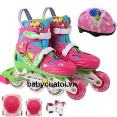 Bộ giầy trượt patin, mũ, bảo vệ Cougar MZS615PS