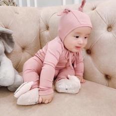 Bộ đồ sơ sinh dài tay cho bé kèm mũ (4-14kg)