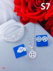 Set trang sức bạc kim tiền 5 món
