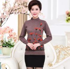 Áo Len Trung Niên Cho Mẹ (In Hoa) – Thời Trang Cho Người Trung Tuổi U50, U60