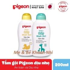 SỮA TẮM GỘI PIGEON TOÀN THÂN CHO BÉ – 200ML