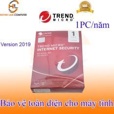 Phần mềm diệt virus internet Trend Micro 1pc/năm 2019 hãng phân phối