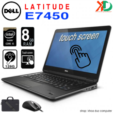 Laptop Dell Latitude E7450 Core i5-5200U, 4gb Ram, 128gb SSD, màn cảm ứng 14inch Full HD
