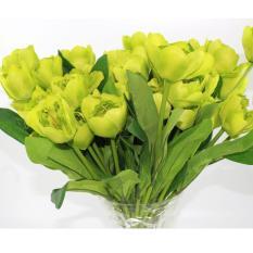 Combo 35 Hoa Tulip Giả Hoa giả để bàn Hoa giả trang trí MeeFlower FL0042