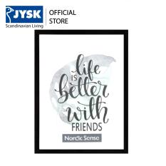 Khung ảnh JYSK Nordicsense nhựa PVC 18x24cm (Đen)
