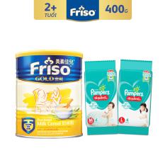 Bột ăn dặm sữa Friso Gold 300g – Tặng 2 gói tã Pampers M4 và L4