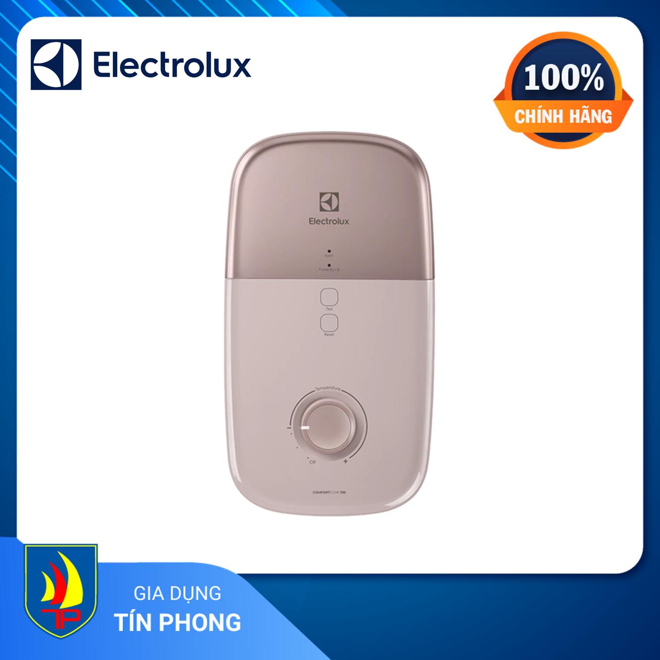 [Trả góp 0%]MÁY NƯỚC NÓNG ELECTROLUX EWE451LB-DPX2. Loại máy: Trực tiếp. Công suất: 4500W. ELCB chống giật an toàn cho người sử dụng