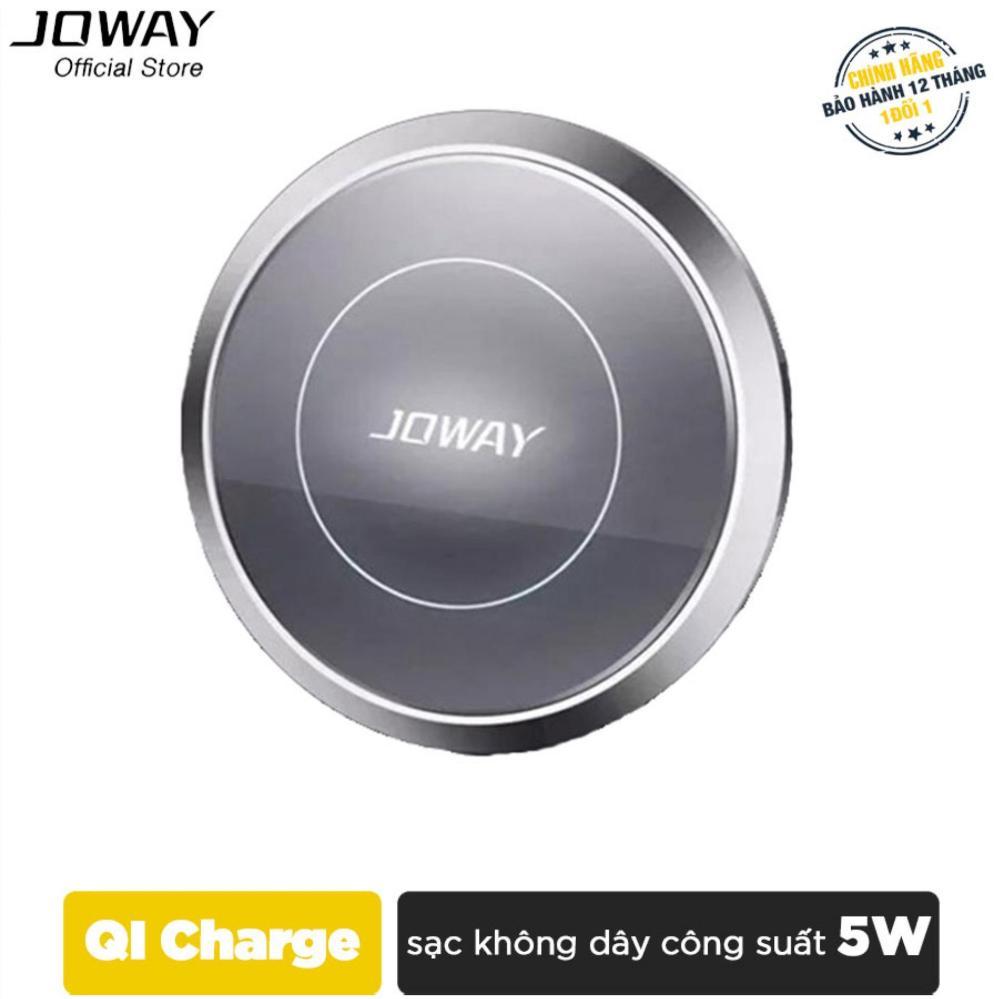 Sạc không dây JOWAY WXC01 chuẩn QI cho iPhone, Samsung, Android, Oppo, Xiaomi - Hãng phân phối chính thức