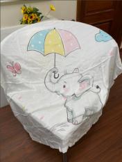 Khăn xô tắm Chăn quấn bé -Khăn quấn bé sơ sinh- Chăn hè cho bé mang tới trường 4 lớp, sợi tre 110*110cm