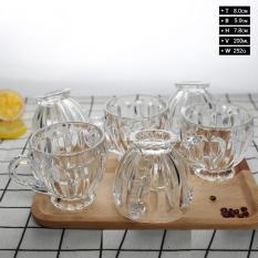 Bộ 6 Ly Thủy Tinh Bầu Lùn Uống Trà, CAFE, NƯỚC HOA QUẢ – Bộ 6 ly thủy tinh uống trà cao cấp