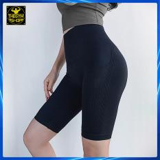 Quần tập legging lửng cạp cao AMIN AM027 siêu nâng mông, quần đùi ngố tập gym, yoga, aerobic, co dãn 4 chiều