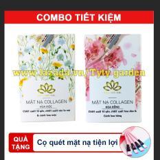 Combo 2 mặt nạ yến collagen Hương Cúc La MÃ – Hoa Anh Đào – Trắng Rạng Ngời [ tặng kèm cọ quét] – Siêu tiết kiệm